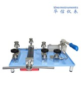 Bench-top hydraulic calibration pump / oil or water