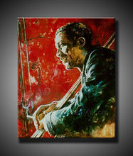 thinking old man oil painting on canvas