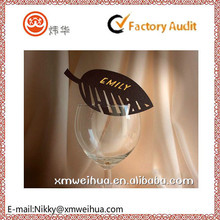 2015 luxurious hollow out leaf cup card