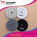 125 mm uso en seco diamante tampón para pulir flexibles para el granito, buff luz plataforma de mármol, mejor calidad almohadilla seca