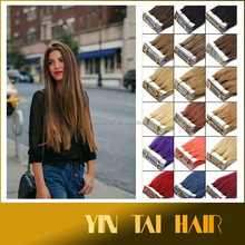 Wholeprice long straight hair 40 pcs 20'' 613# color synthetic tape hair extensions