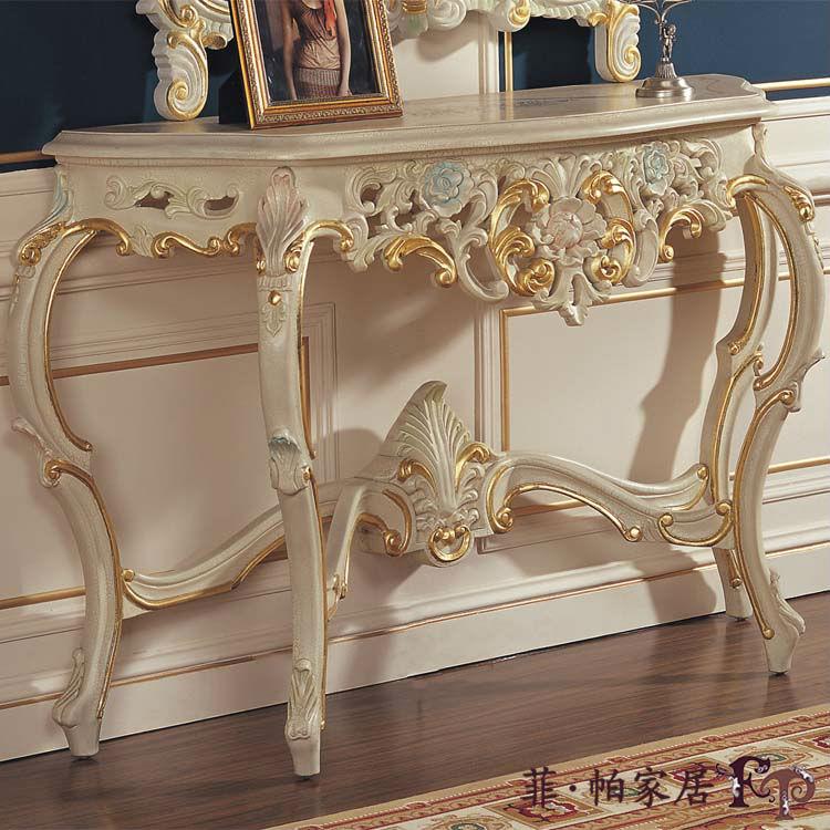 Luxury classic furniture soild wood gold foil leaf - Sofas antiguos de madera ...