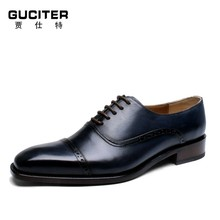 High-end handmade men's leather shoes Bullock carved goodyear custom private banquet italian men shoes dress high quality shoes