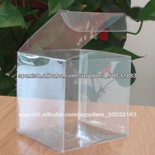 pequeña caja de plástico transparente al por mayor, caja plegable de plástico transparente de encargo