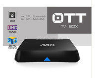 Top selling Quad Core Google Android 4.4 Amlogic S802 XBMC/KODI pre-installed best google android tv box m8