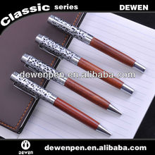 super quality and high grade promotion metal pen wood