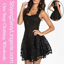 2015 toptan her siyah dantel parti patenci elbise genç kızlar seksi kısa etek giyen