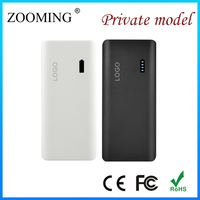 10000mAh Universal Black Color usb charger Power Bank with Phone