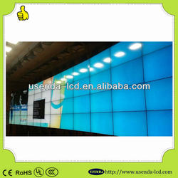 Full color hd with LG 47inch ultra thin splicing lcd monitor multimedia digital video wall with 4k processor