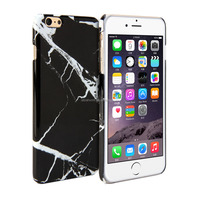 Marble print case for iPhone 6 Plus 5.5 inch for iphone black marble case China supplier