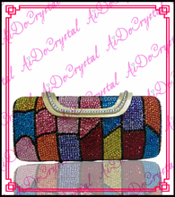 Aidocrystal diamond colorful italian trendy double use banquet bag for young women