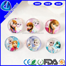 hot sale fashion kids frozen rings with 7 colors and 10 photos frozen jewelry