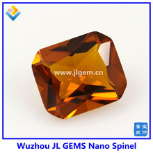 Synthetic Octagon Yellow Citrine Nano Spinel Stones for jewelry Wax Settings