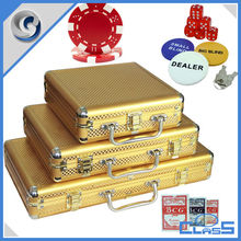 MLD-PC36 Hot Selling Gold 11.5g high-quality Classic Hard Aluminum Chip Set Case