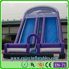 2015 high quality/hot sale/commercial/pvc/giant/two lane/high/commercial inflatable slide