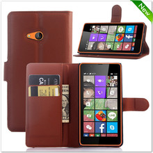 Factory price leather flip back cover for nokia lumia 540
