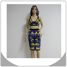 blue wedding dresses 2015 innovations new design colorful two pieces bandage dress