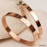 Fashion jewelry 2015 blank custom engraved rose gold couple bangle for love