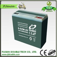 Newest hot selling maintenance free 12v 20ah batteries electric scooter