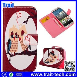 New Design Cross Texture Flip Stand Wallet Leather Case for HTC One M9 Flip Cover