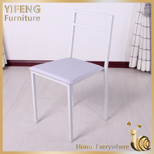 On sale Cheap metal Dining Chairs, dining room furniture white dining chair