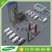 Used engine oil recycling system with high grade purification technology