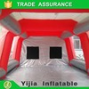 Mobile inflatable paint booth for automotive refinish paint