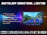 Bestglory 7 inch one din slide-down gps dvd car player
