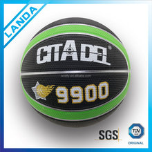 colorized new coming style all size 4c printed rubber basketball for adverting