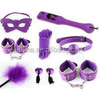 Fashion halloween game play sexy purple male bondage sex toy bondage restraints products HK8234