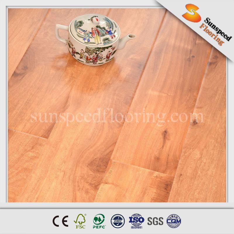 Hdf 12mm ac4 firm lock commercial grade laminate floor for Easy lock laminate flooring