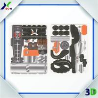 Cartoon car Jigsaw puzzle/ 3D plastic PP puzzle/ Cab Intelligent Diy Model plastic Car Toy