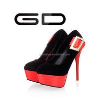 fashion red thick bottom heel women pretty platform single shoes
