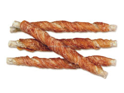Chicken breast roll bone particles stick pet chews