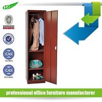 High quality gym metal 1 single door locker, custom storage clothes wardrobe locker