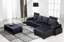 Latest design genuine leather modern chaise lounge indoor 104C