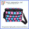 Colorful Dots Printed Canvas 6 Can Small Cooler Bag