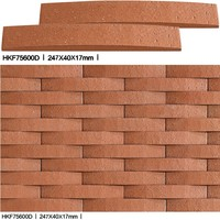 3D red/white interior & exterior ocean wave wall tiles for decoration of building conctruction materials