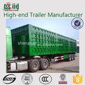 China fabricante tri-axle 20ft 40ft caja camión remolque bajo chasis