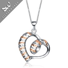 Wholesal and Retail Silver 925 Handmade Heart Pendant For girls