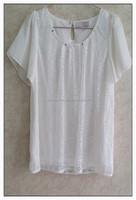 Sweet short sleeve chiffon T-shirt cotton lady summer t-shirt