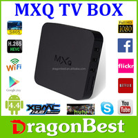 NEW Hot Selling Quad Core 4K Amlogic S805 MXQ Pre-installed XBMC Android TV Box MXQ TV Box 1GB/8GB WIFI Bluetooth MXQ S805