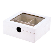 2015 newest custom design home furnishing white wooden box for jewelry with compartments