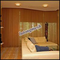 Sliding aluminum alloy coil drapery,stainless steel coil drapery for living room curtain