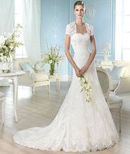 hecho en china hermosa chaqueta desmontable superior de diseño arábica diseñadores de vestidos de novia 2014