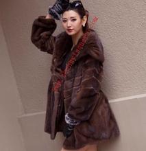 Luxury Fur Pelts Natural Pattern Chinese Fashion Mink Coat Fur