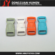 New colored 1/2 curved plastic buckle,breakaway buckle, curved plastic buckle clip
