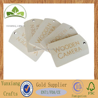 Wooden tag for various commodities