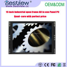 Open Frame 15 Inch Industrial Touch Screen Panel Pc Linux All In One Computer