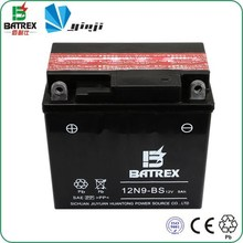 12v 9ah seal mf motorcycle battery for Yamaha